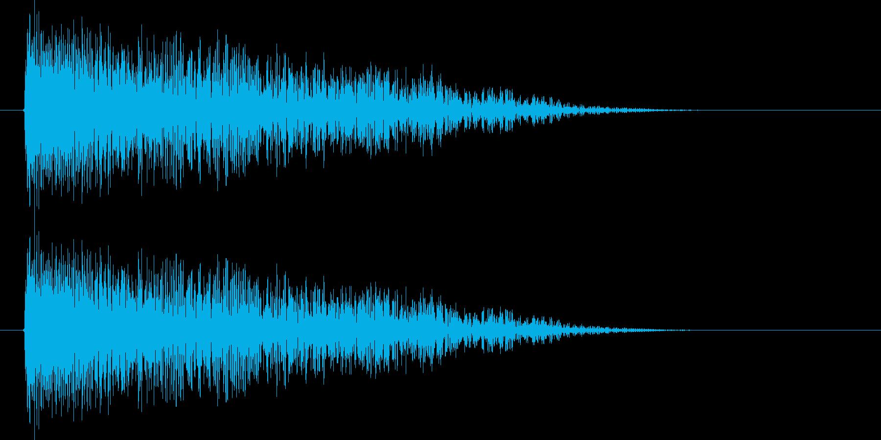ババーン(クラッシュ、金属系の叩く音)の再生済みの波形