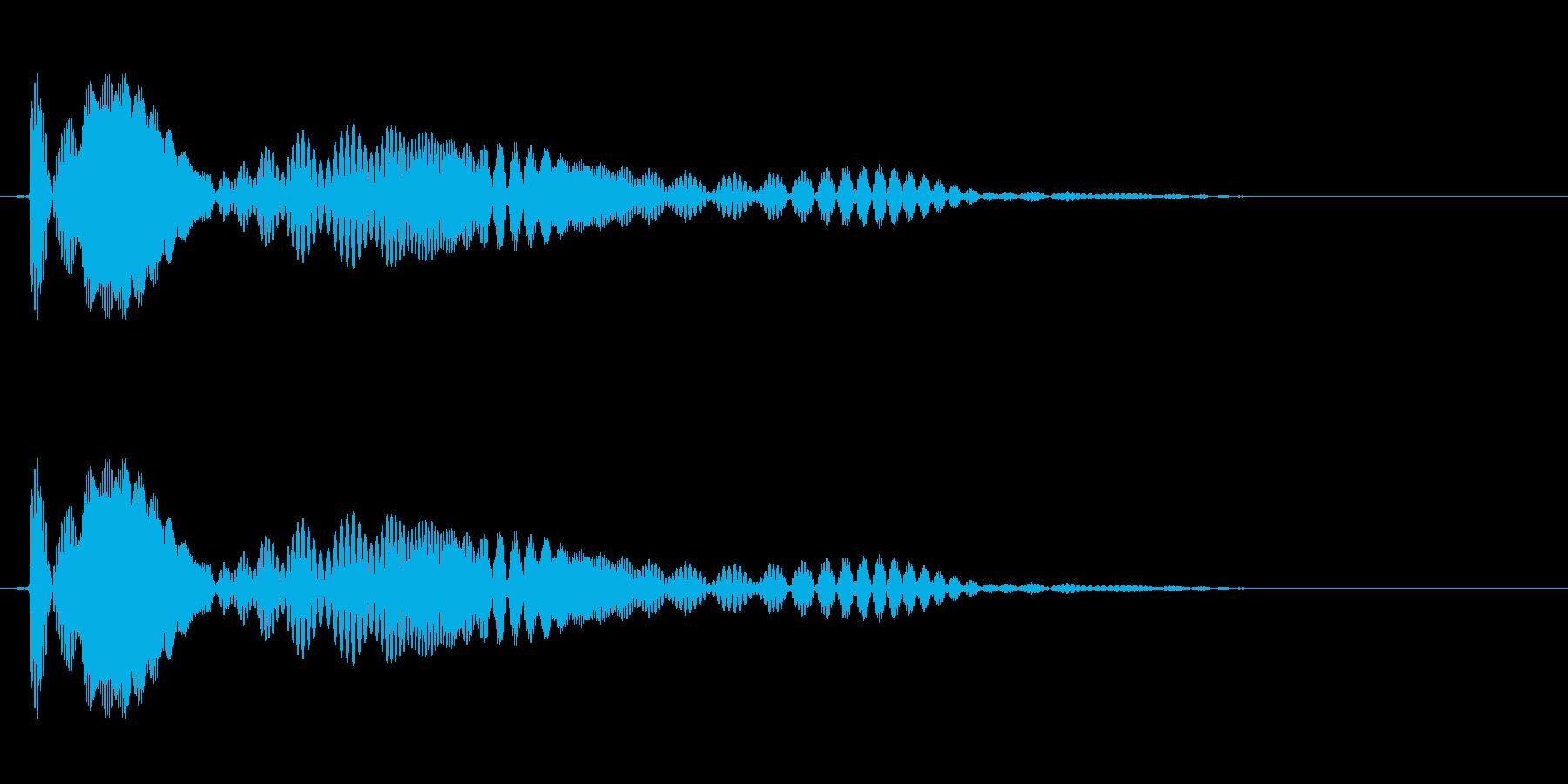 プワワァン(ぷるぷるした物が揺れる音)の再生済みの波形