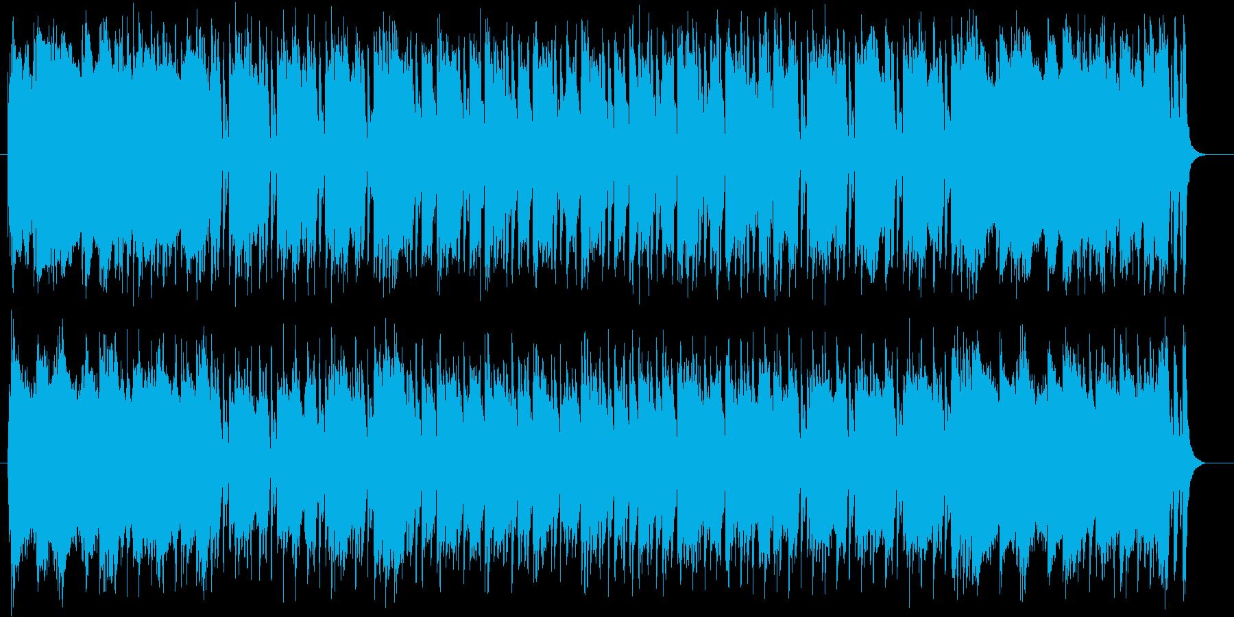 近代的なロックミュージックの再生済みの波形
