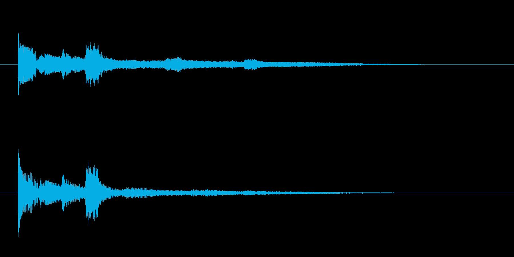コミカルで残念 決定 タッタ トゥッタ の再生済みの波形
