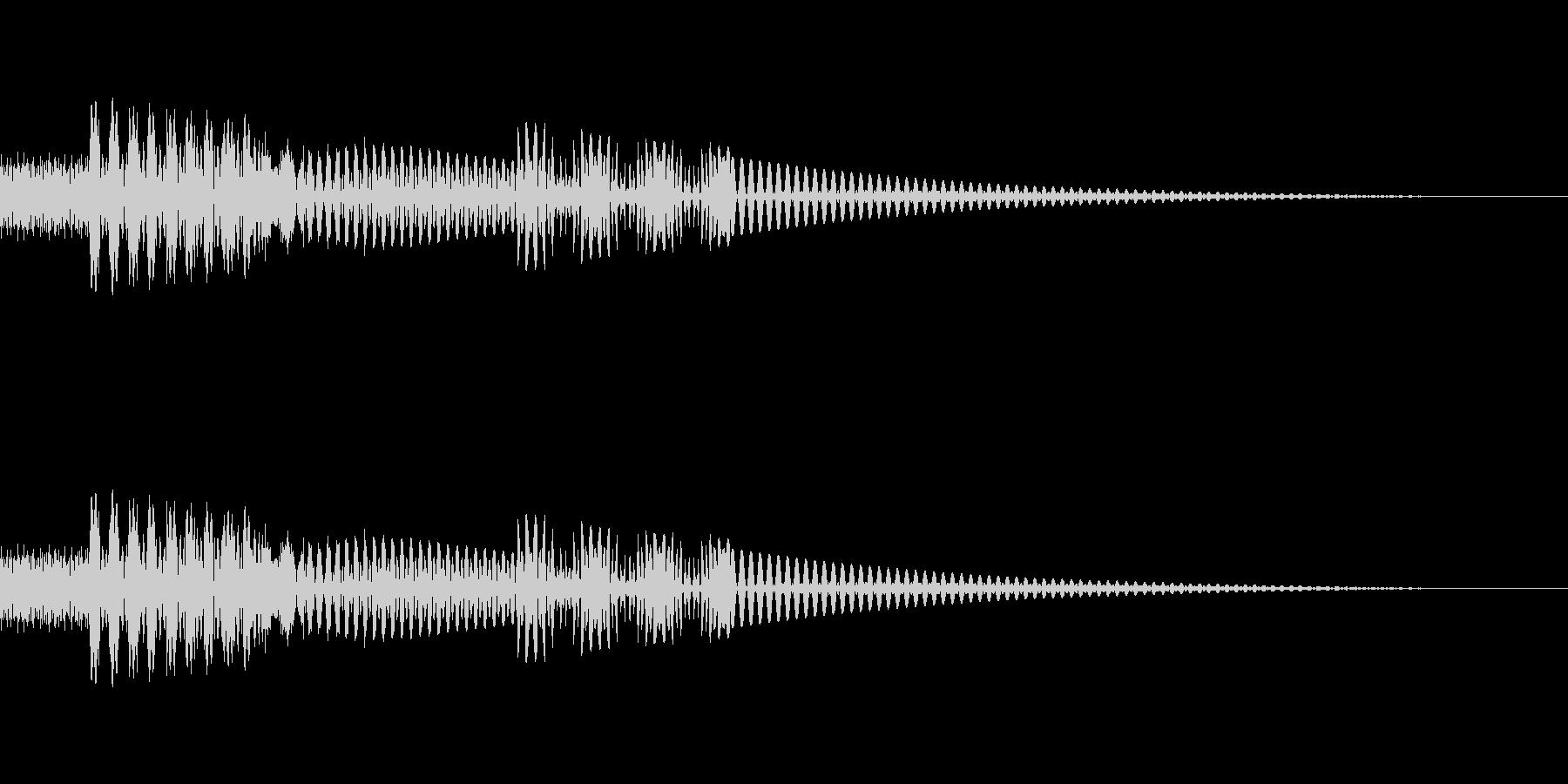 [ピコッ]ボタン・タップ(8bit系)の未再生の波形
