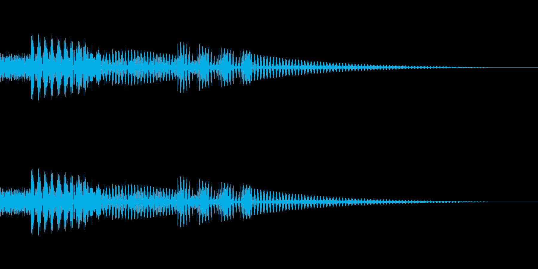 [ピコッ]ボタン・タップ(8bit系)の再生済みの波形