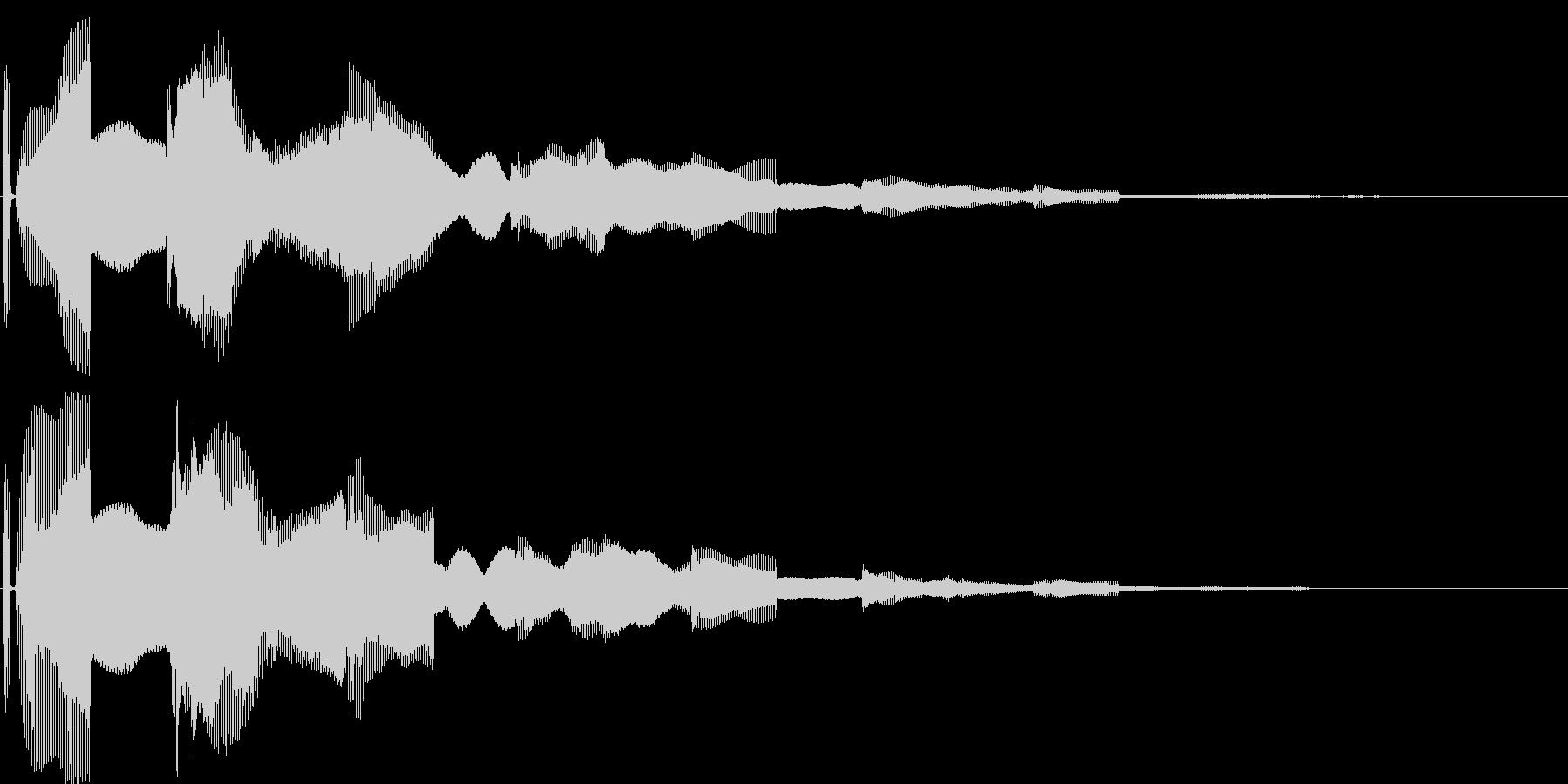 汎用決定ボタン - 2の未再生の波形
