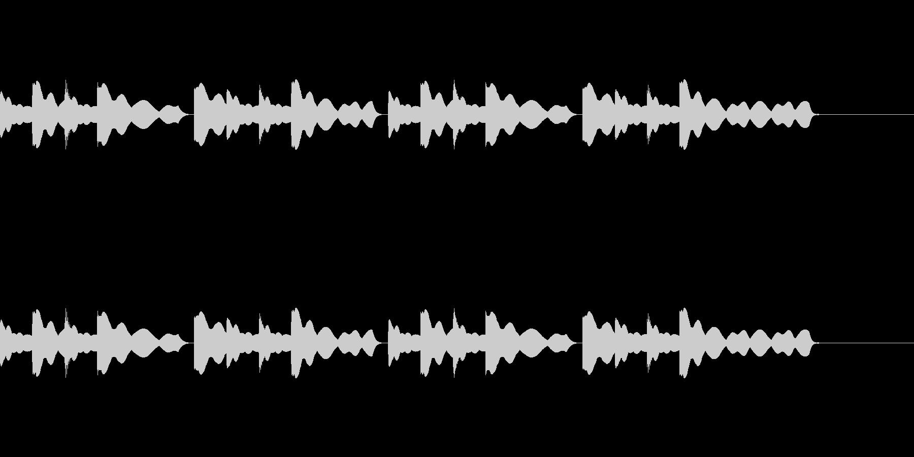 チャイム(通常版)の未再生の波形