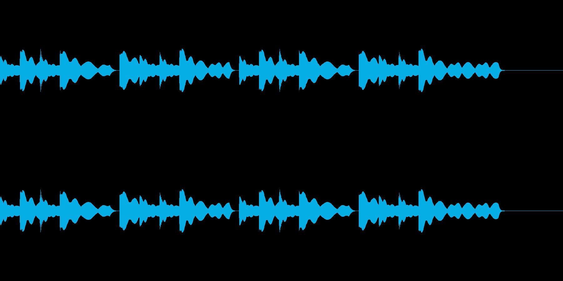 チャイム(通常版)の再生済みの波形