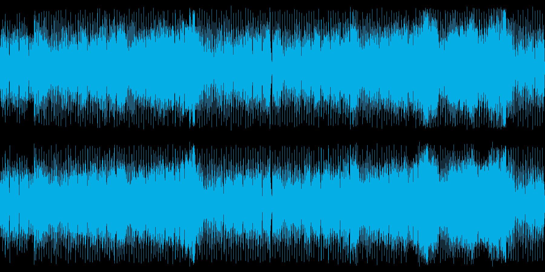スタイリッシュなハウス風チップチューンの再生済みの波形