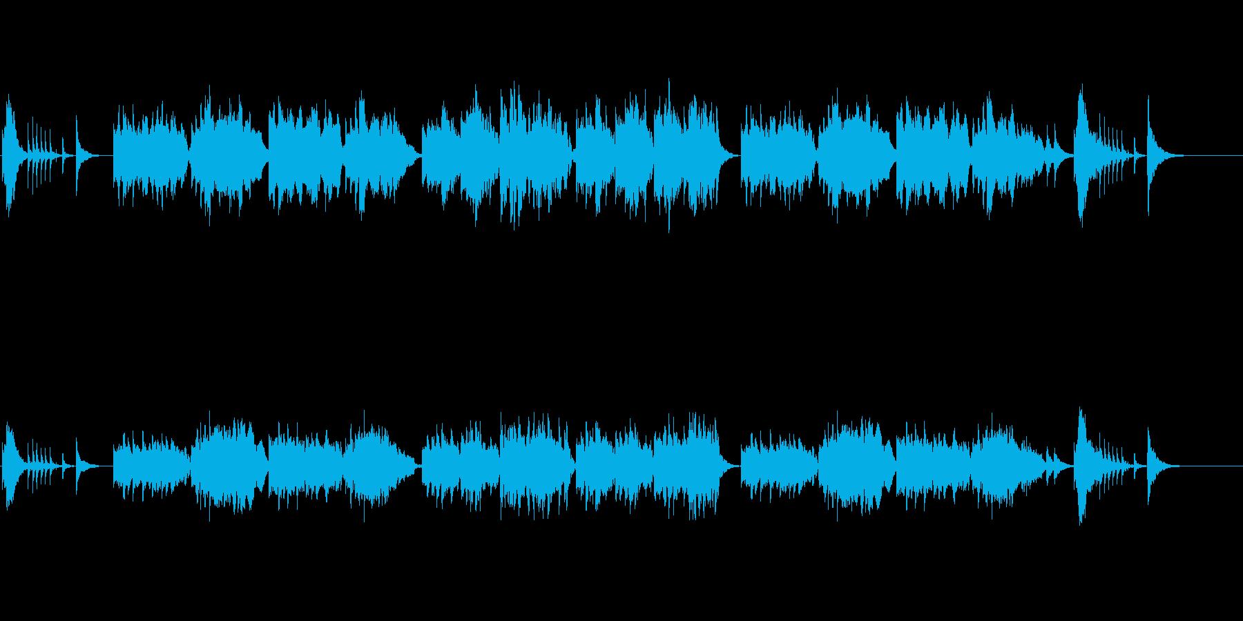 琴と尺八の音色が美しい純和風曲の再生済みの波形