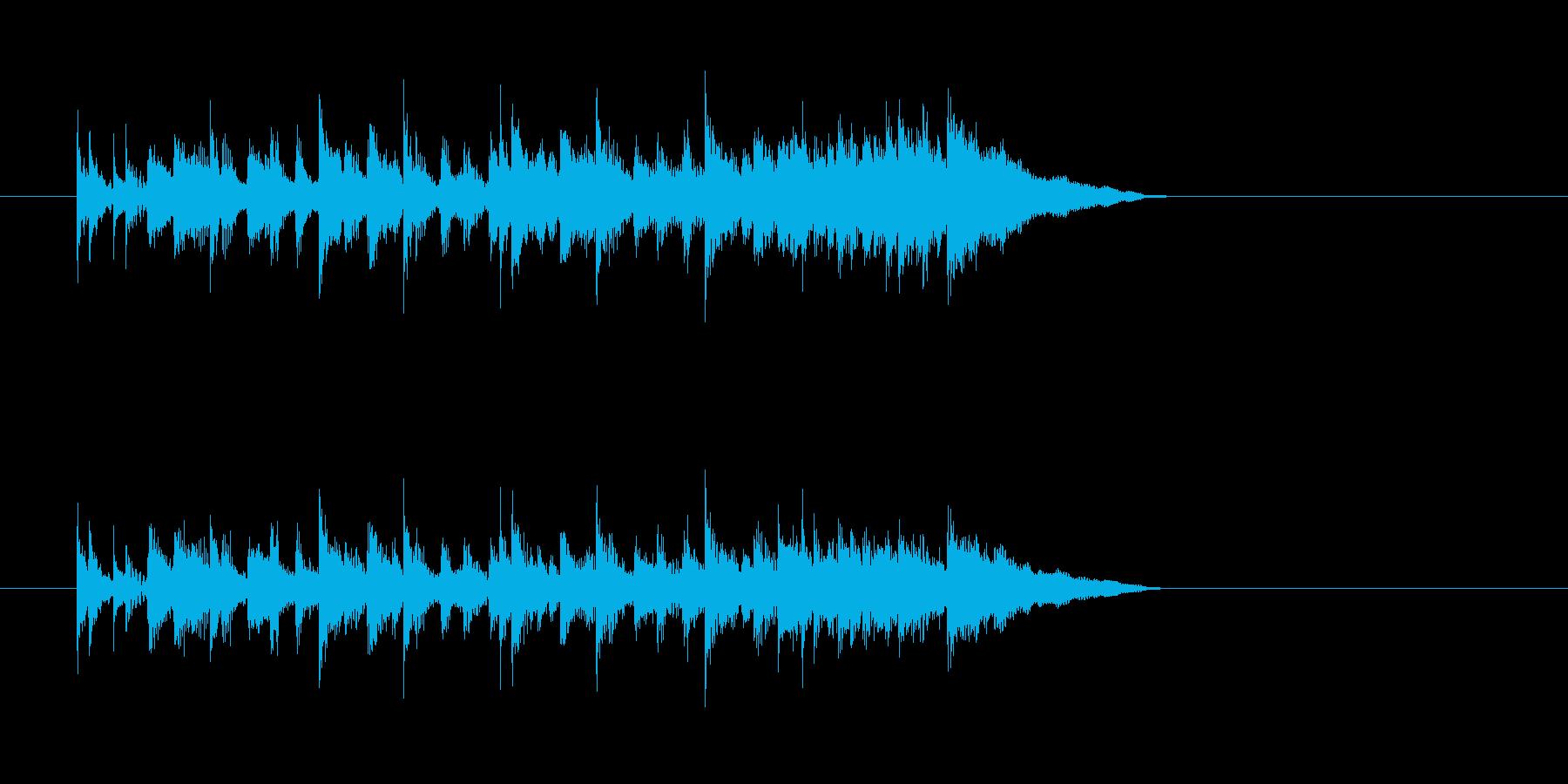 日常 シンセサイザー 明るいの再生済みの波形
