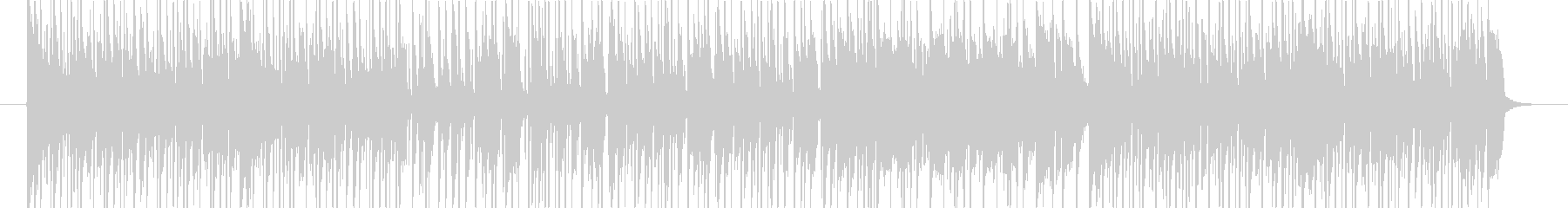 ファンク風BGMの未再生の波形