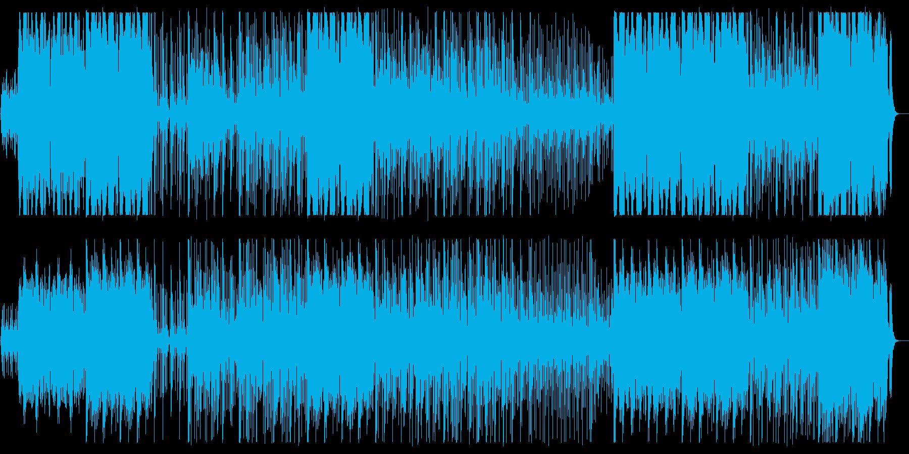 ストリングスや鉄琴が奏でる雄大な曲の再生済みの波形