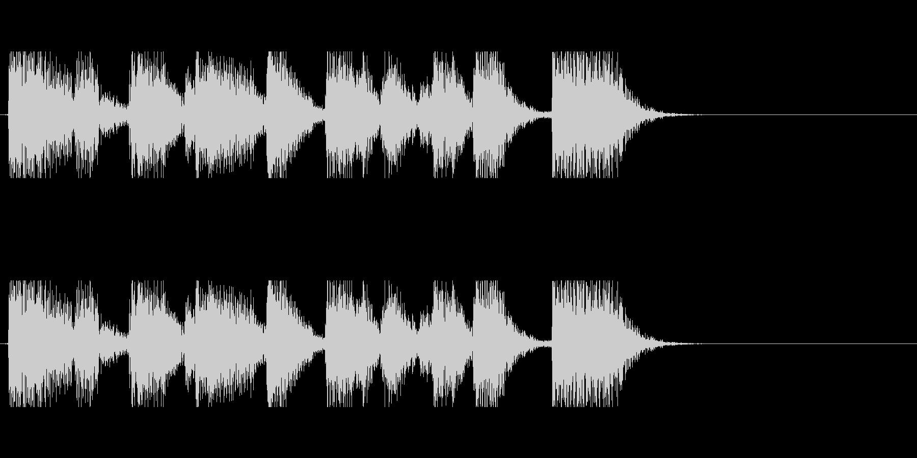 ファンキーなギターのアイキャッチの未再生の波形