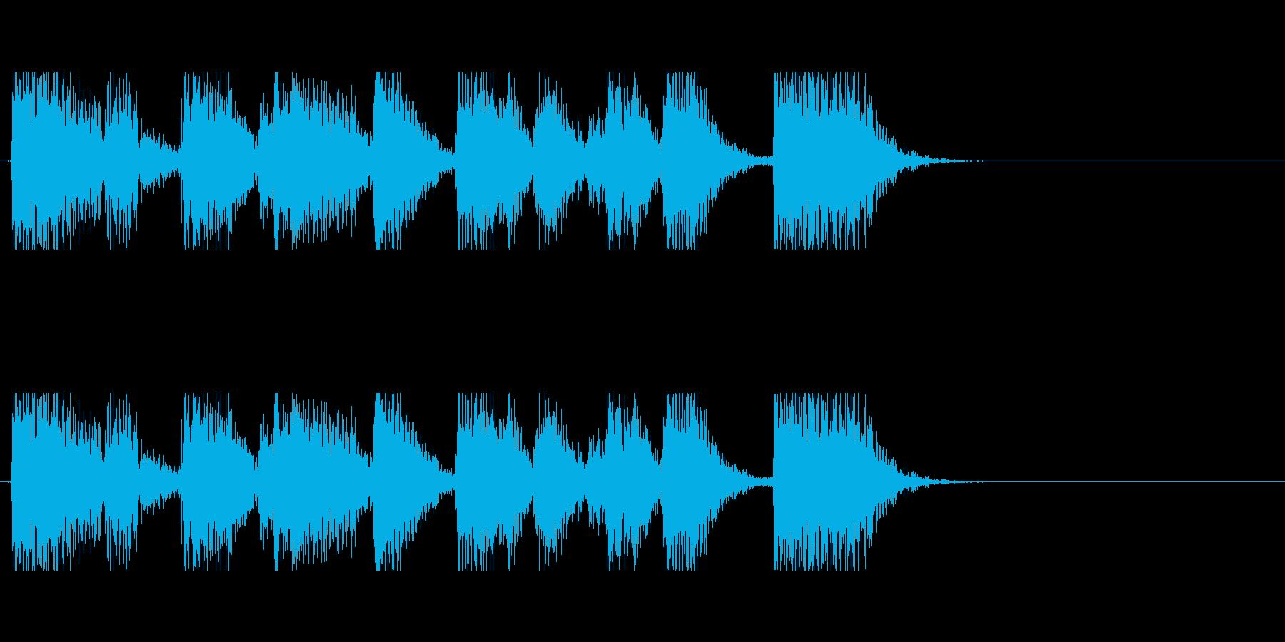 ファンキーなギターのアイキャッチの再生済みの波形