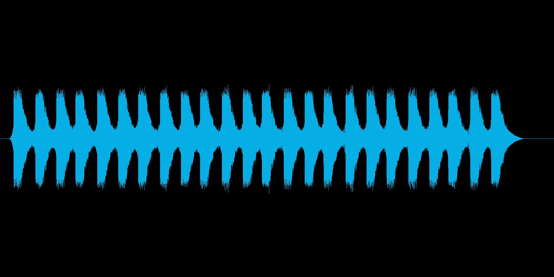ファミコン風 台詞.メッセージ音 01の再生済みの波形