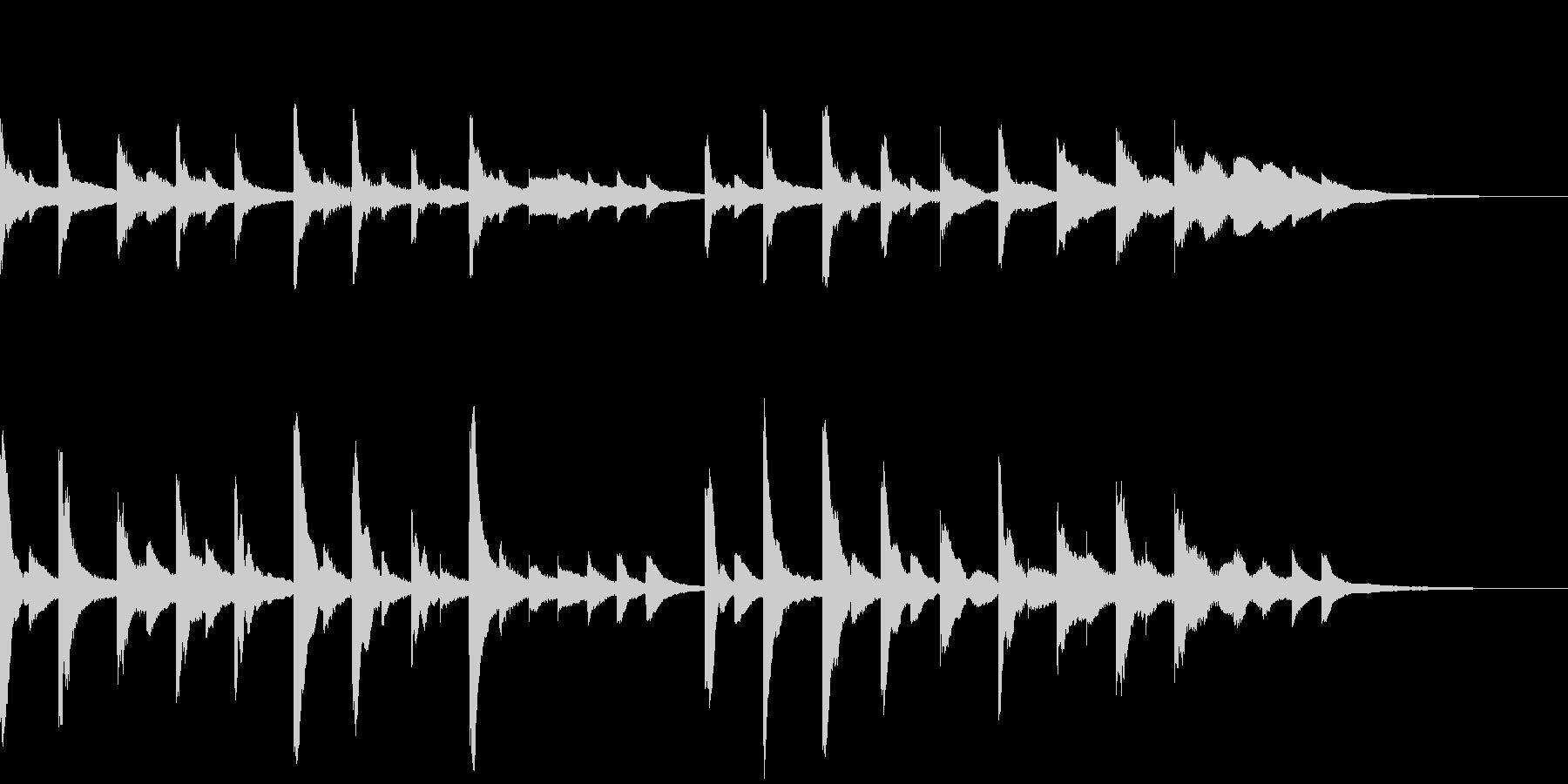 きらきらリズミカルなグロッケンの未再生の波形