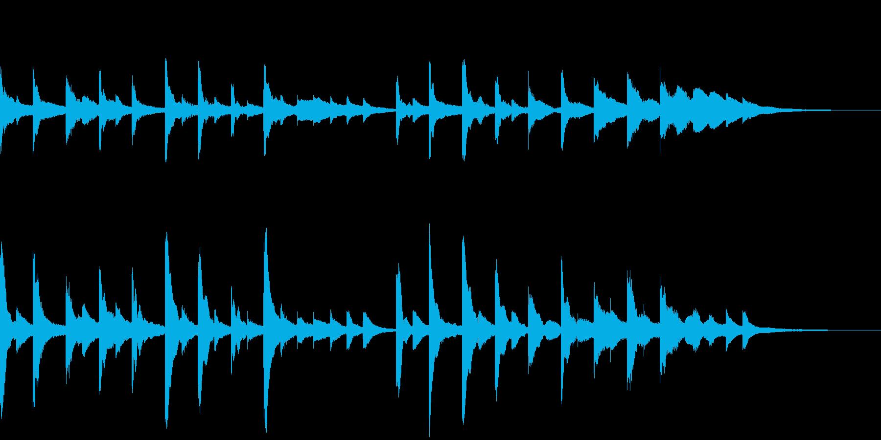きらきらリズミカルなグロッケンの再生済みの波形