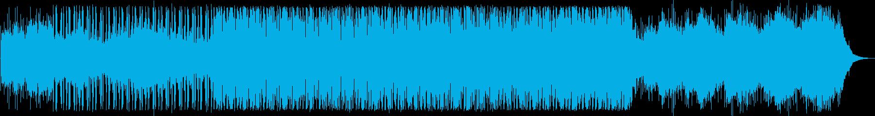 軽快なリズムのテクノの再生済みの波形