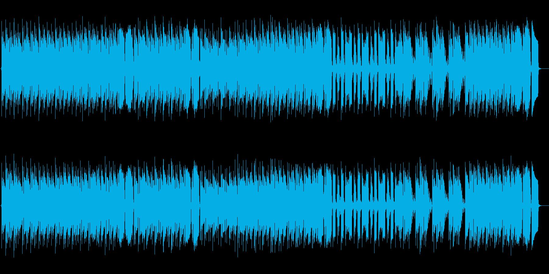お洒落で現代的なポップスの再生済みの波形