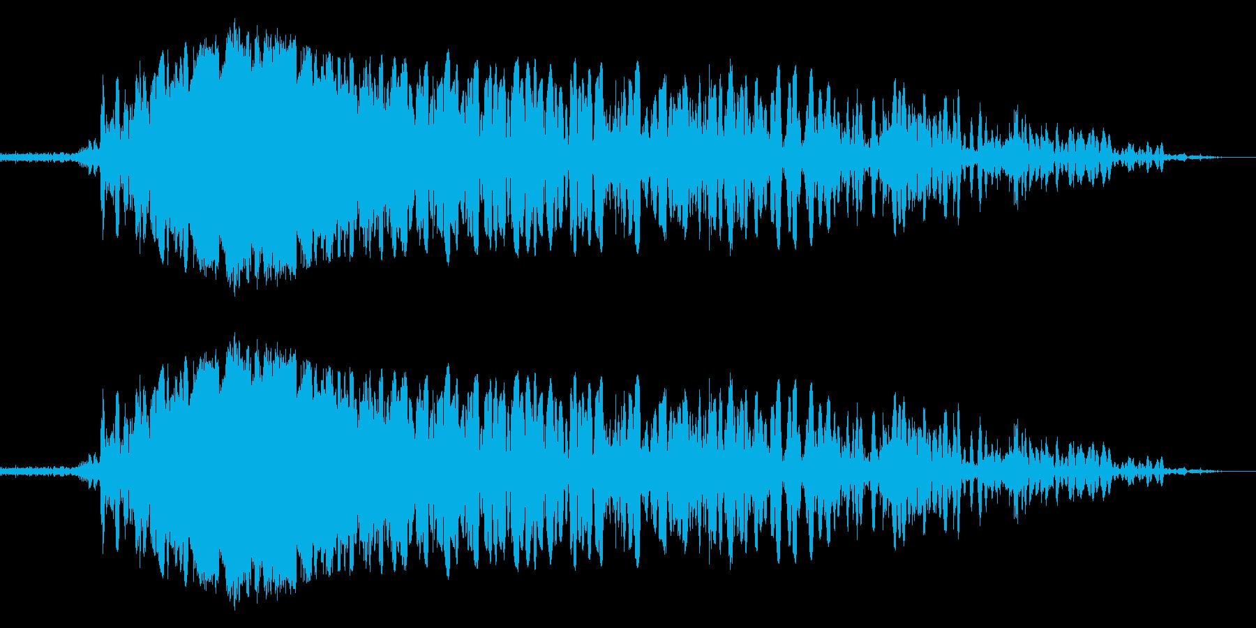 ボォォ!炎の音1の再生済みの波形
