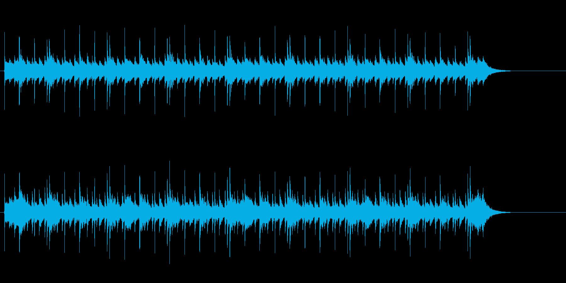ホラー、サスペンス調なアンビエントの再生済みの波形