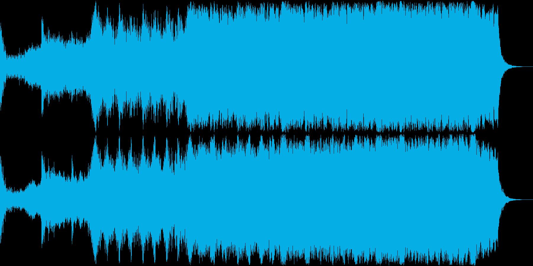 勇壮なオーケストラ小品の再生済みの波形