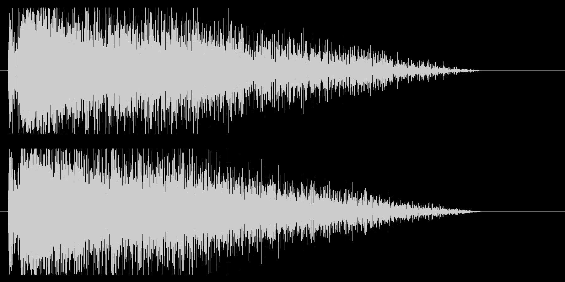 『ドカーン』クラッシュ音、爆発音、雷鳴の未再生の波形