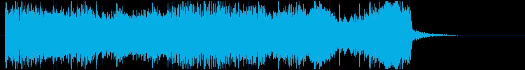 緩やかでスピーディーなゲーム対戦音の再生済みの波形