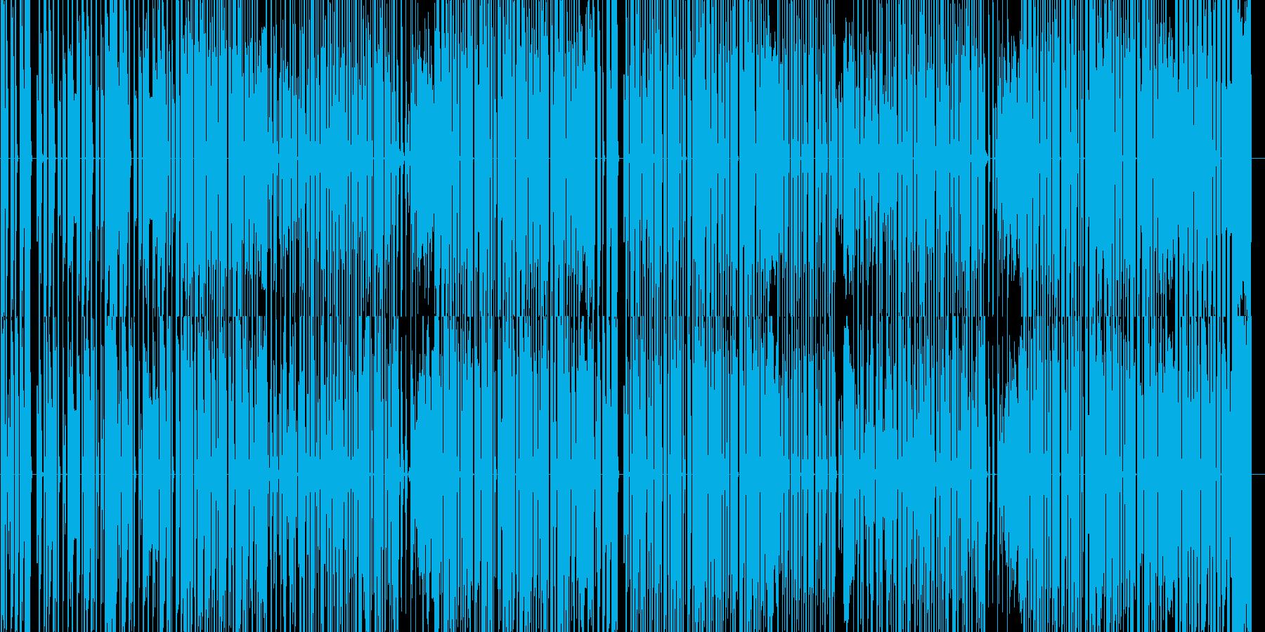 かわいらしくポップな電子音楽の再生済みの波形