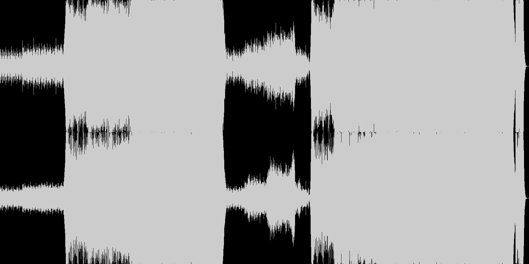 疾走感のあるオーケストラ曲の未再生の波形