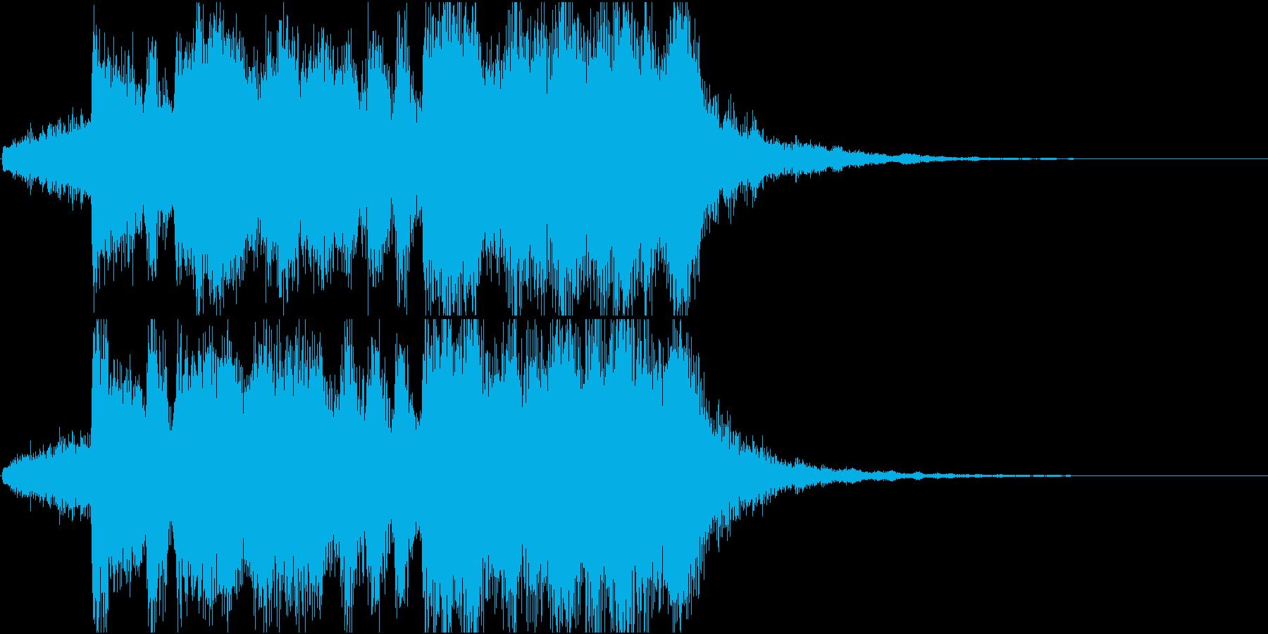 ステージクリア・ファンファーレ・オケ風の再生済みの波形