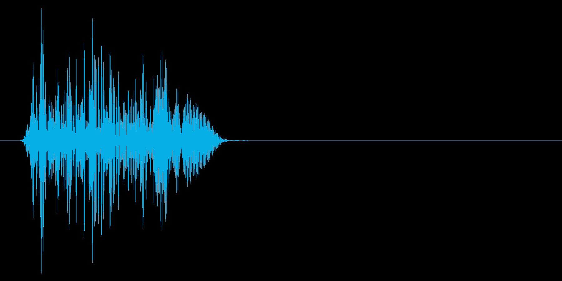 ゲーム掛け声ゾンビ1オオ?3の再生済みの波形