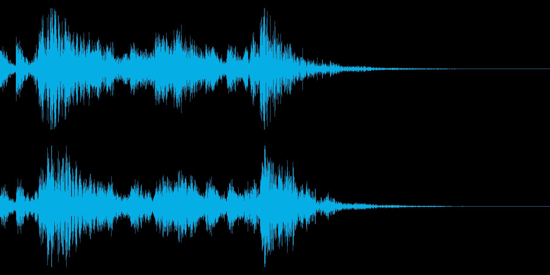 太鼓の和太鼓フレーズ/和風ジングル 34の再生済みの波形