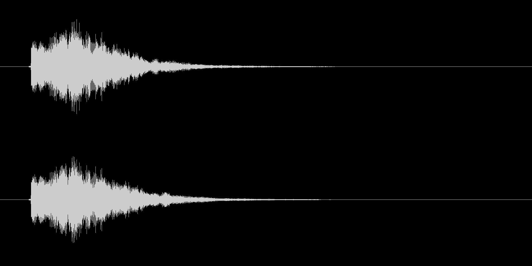 ピロロン(高音のお知らせ音)の未再生の波形
