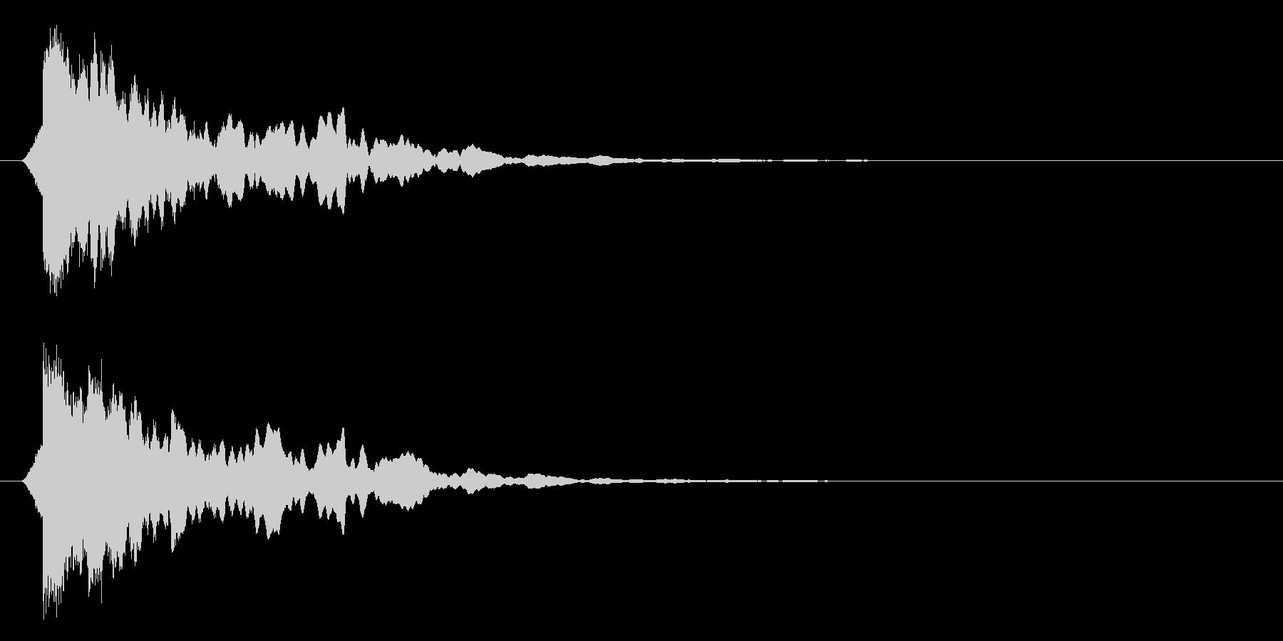 カーン/水/決定音の未再生の波形