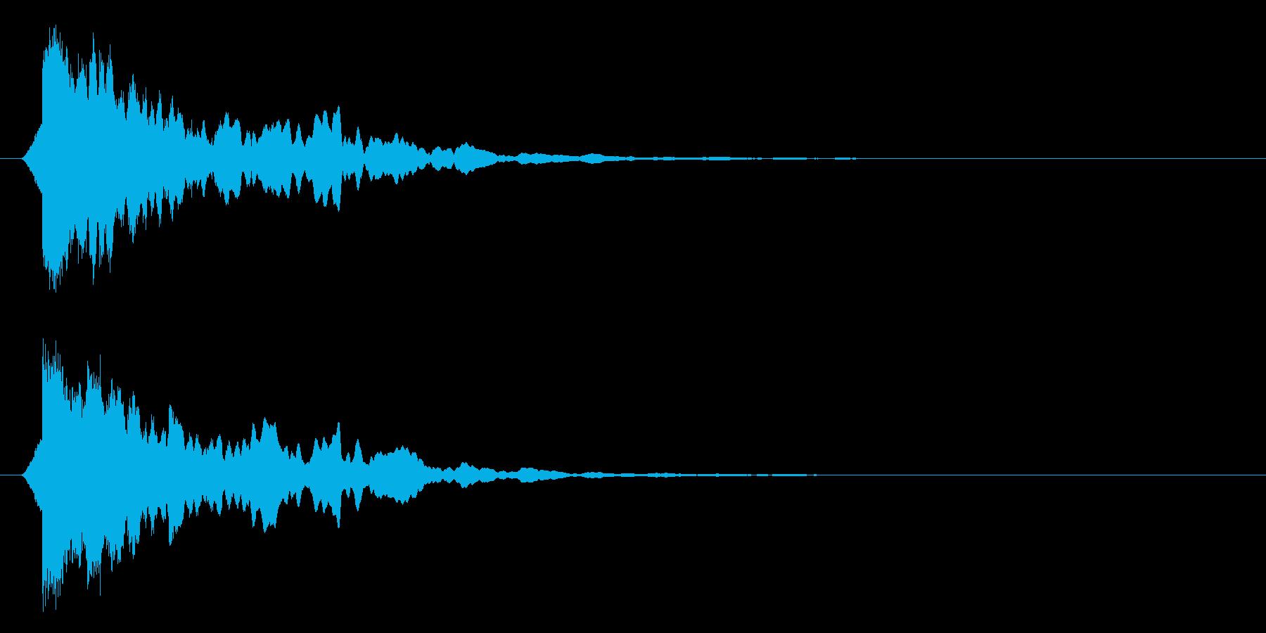 カーン/水/決定音の再生済みの波形