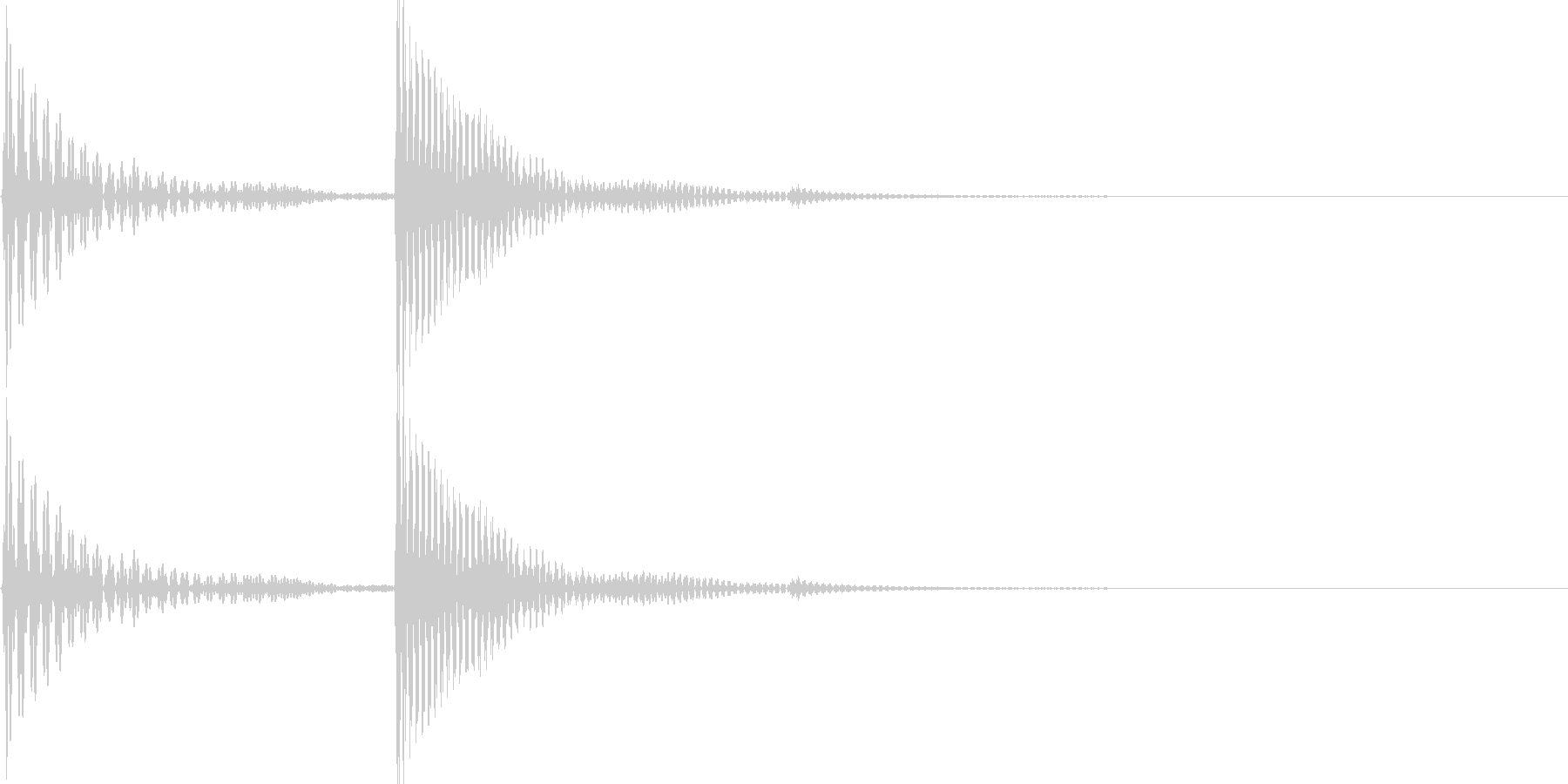 電子音(パコ)の未再生の波形