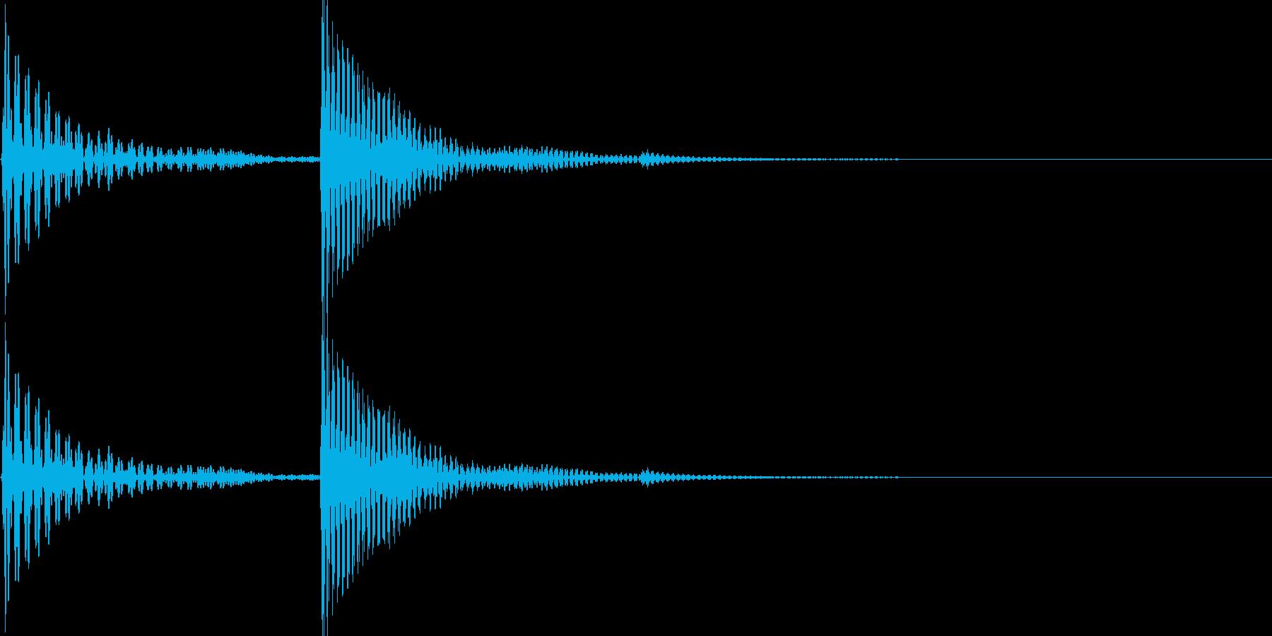 電子音(パコ)の再生済みの波形