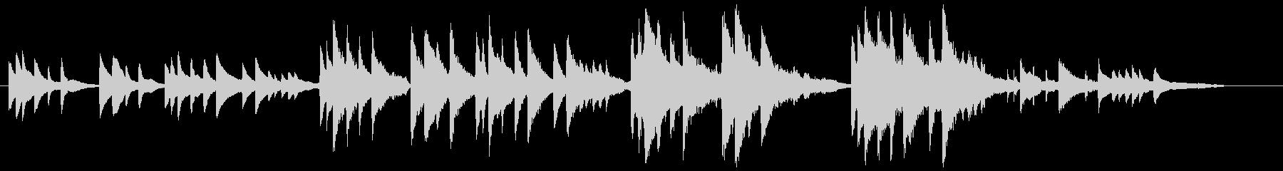 3拍子で1分程の短いピアノ曲の未再生の波形