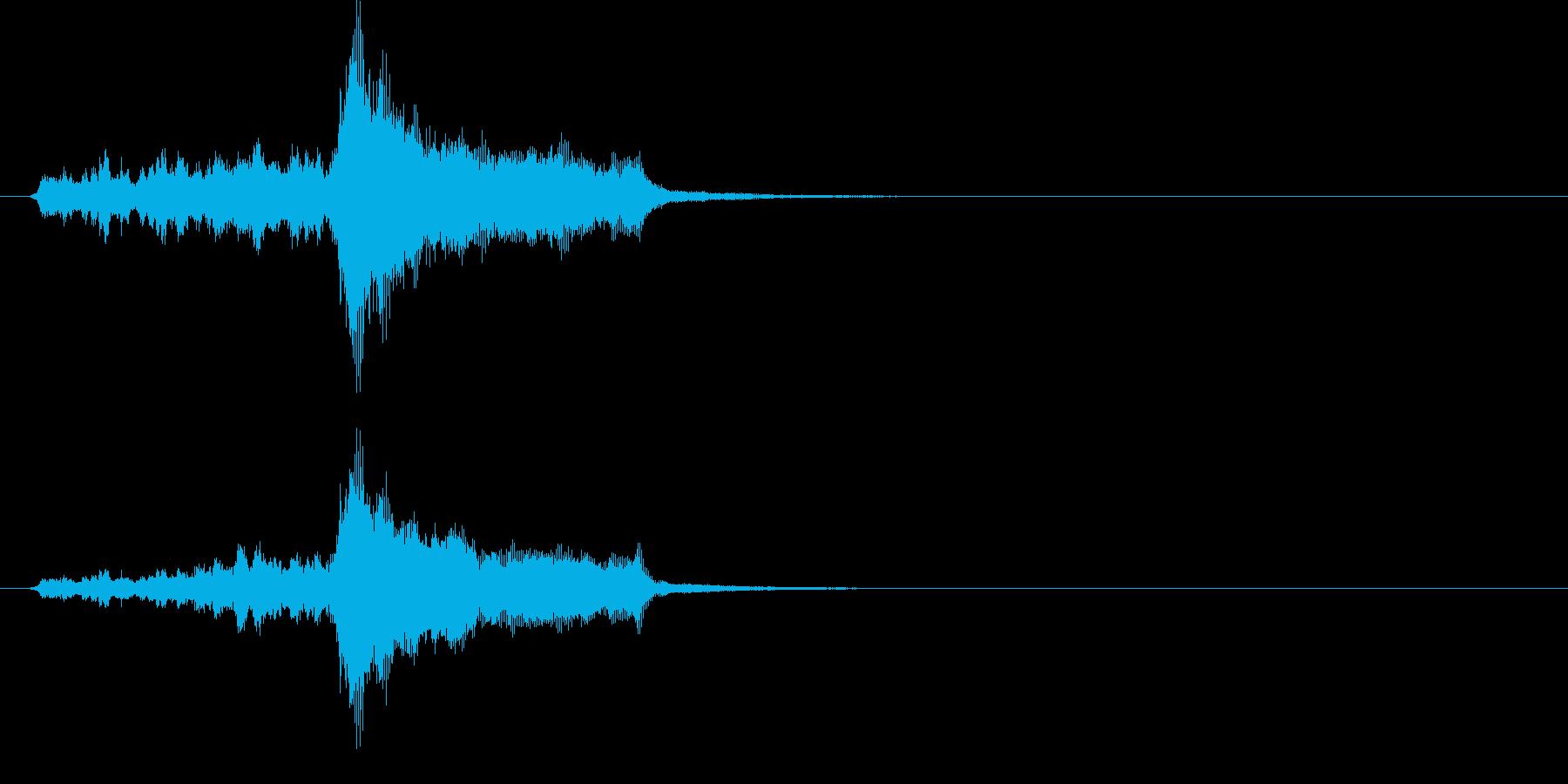 ジングル(クラシカル風)の再生済みの波形