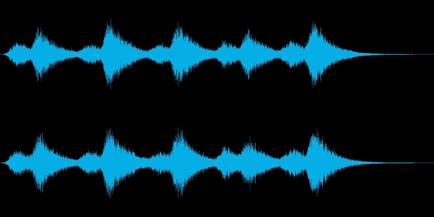 わーんの再生済みの波形
