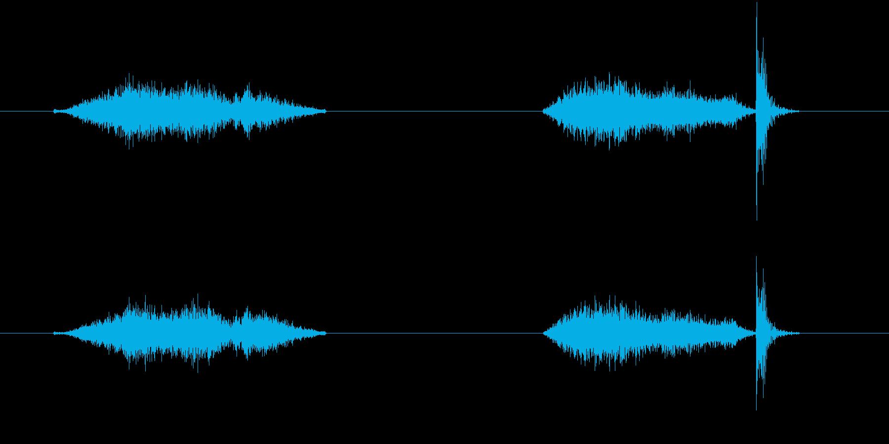 和室の障子戸の開閉音。の再生済みの波形