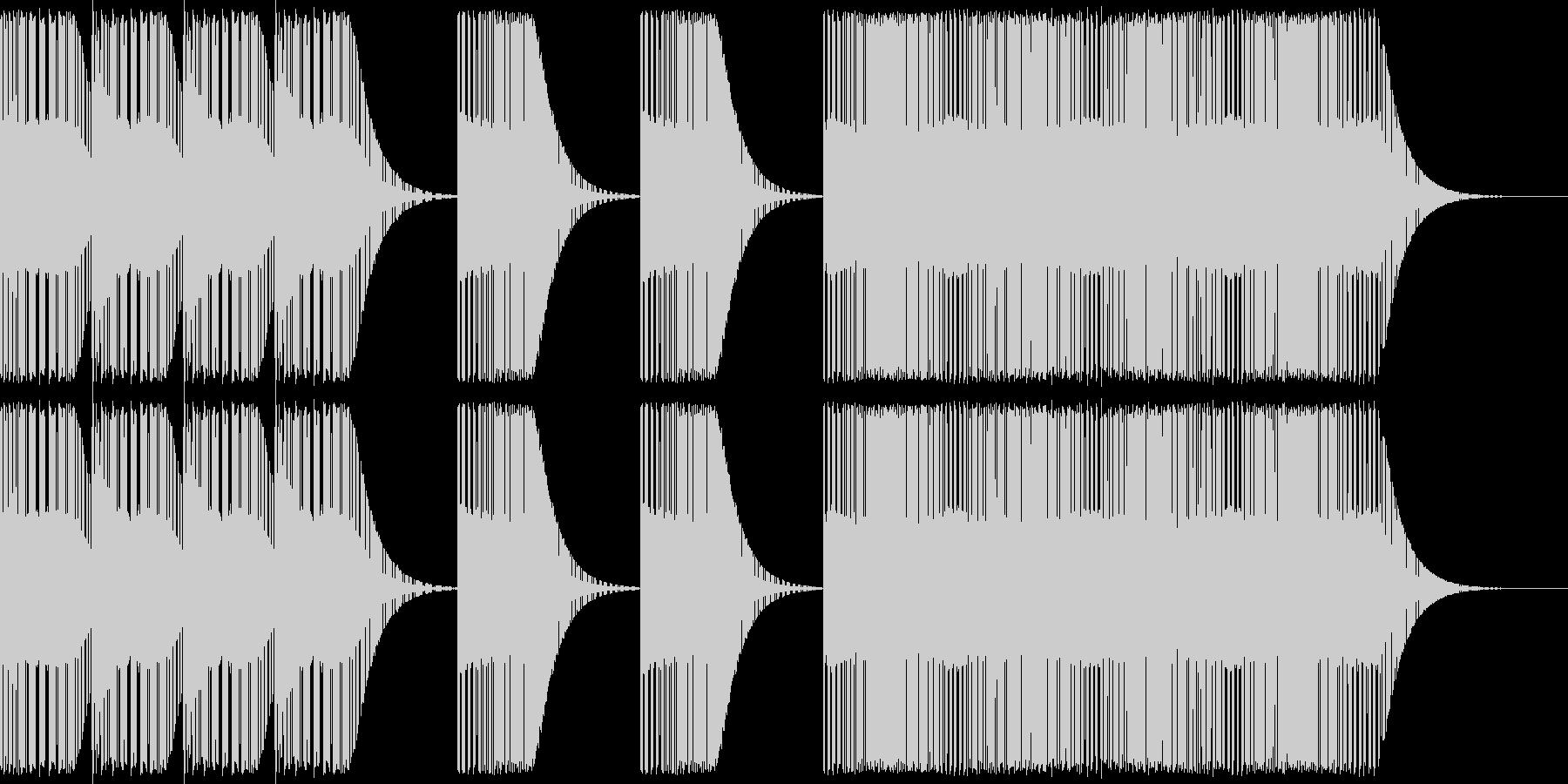 レトロゲームレベルアップ風ジングルの未再生の波形