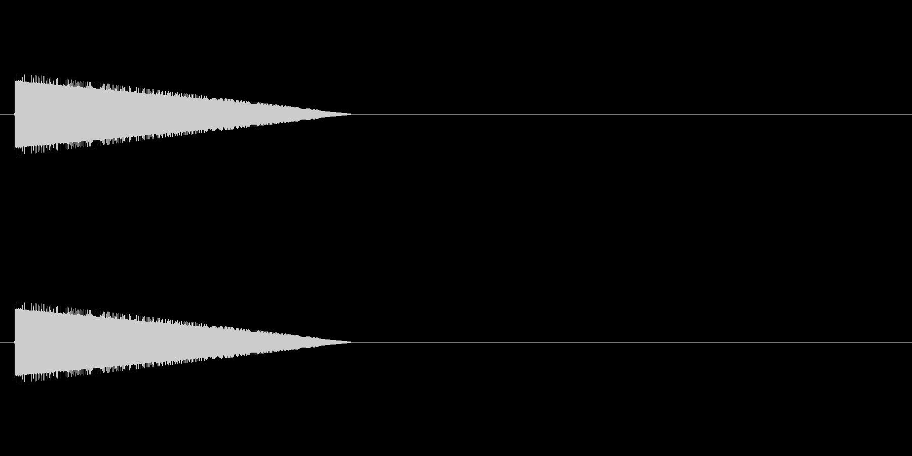 レトロゲーム風・ジャンプ#2の未再生の波形