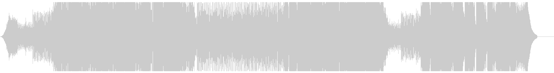 スピード感があり幻想的なEDMの未再生の波形