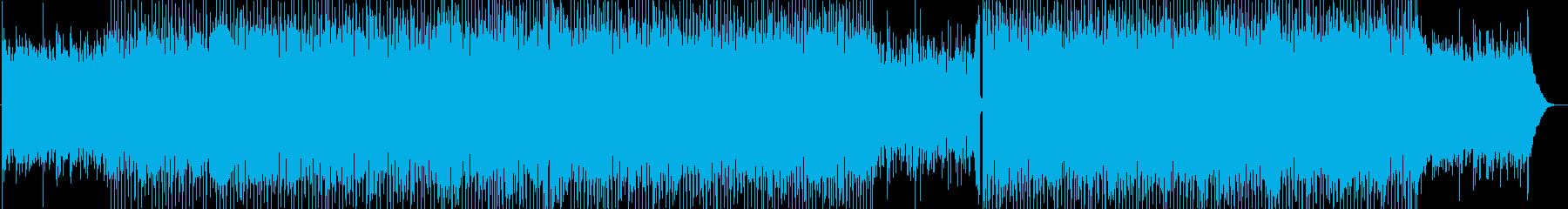 ギターの旋律が特徴的ラテンテイストBGMの再生済みの波形