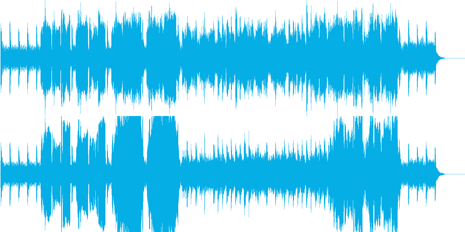 儚い雰囲気のワルツの再生済みの波形