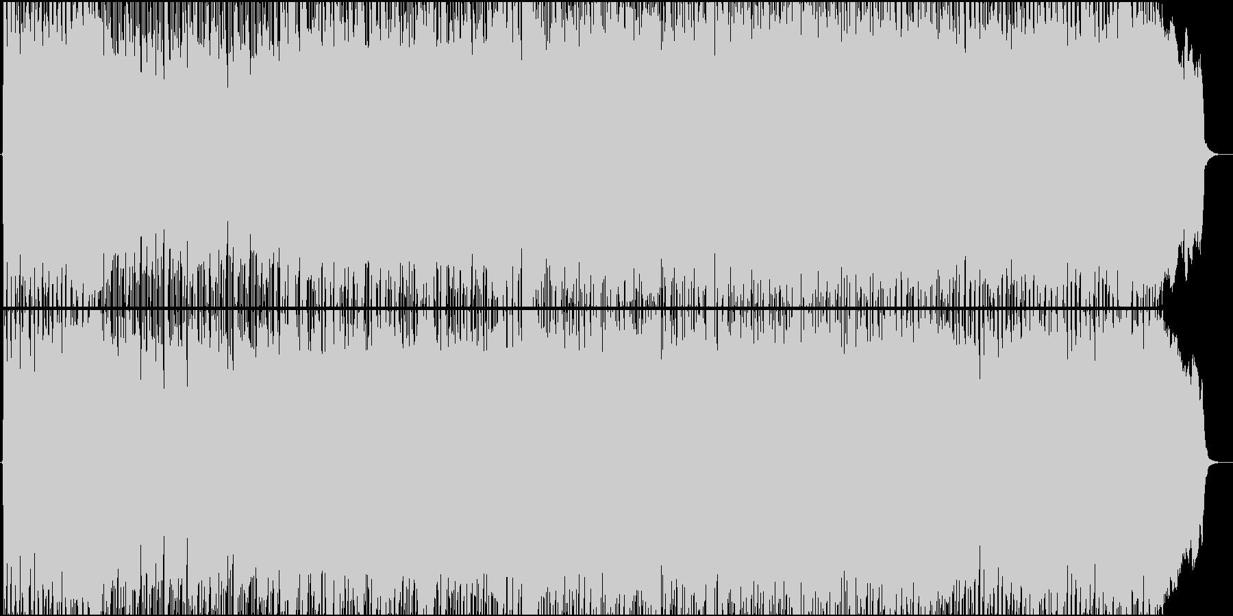 女性Vo★アニソンOP風、メタル疾走曲♪の未再生の波形