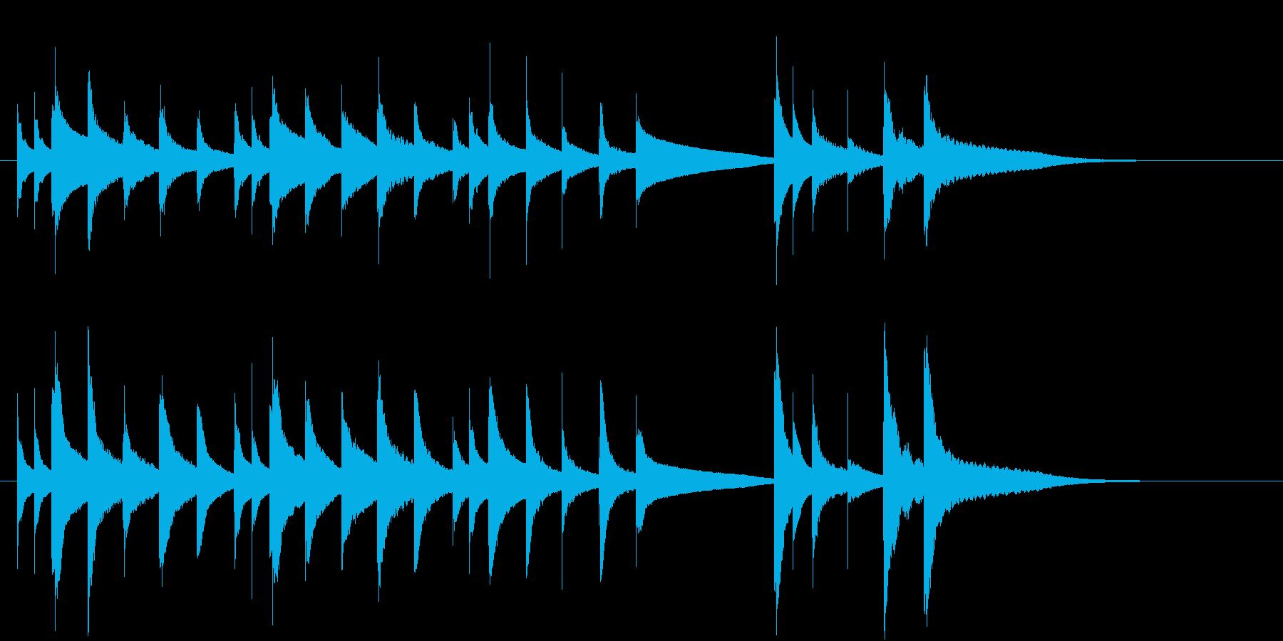 ハッピーバースデーのオルゴール(シンセ)の再生済みの波形