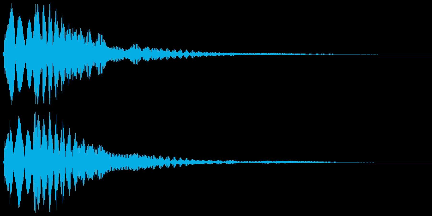 キラーン(コイン、ウィンク音など)の再生済みの波形