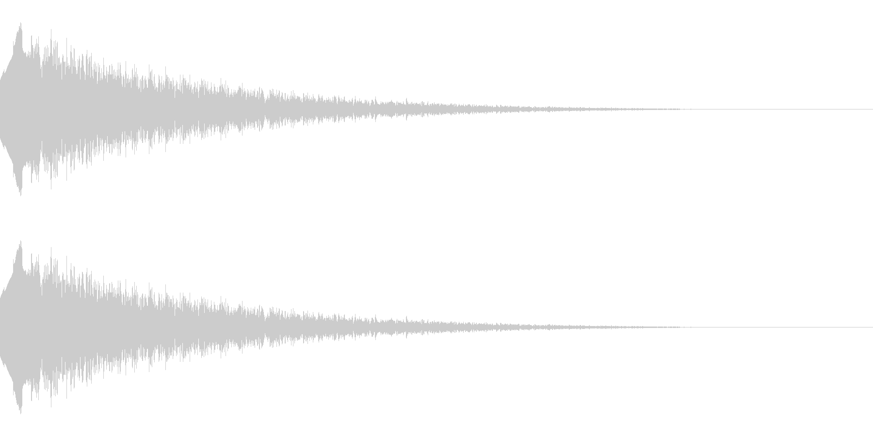 流れ星のような効果音(キラキラ/下降系)の未再生の波形