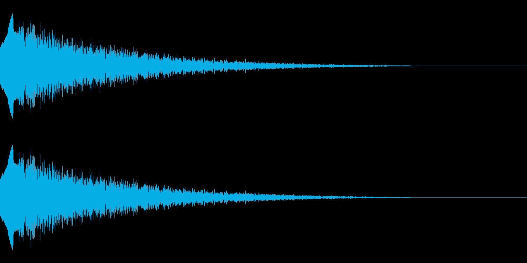 流れ星のような効果音(キラキラ/下降系)の再生済みの波形